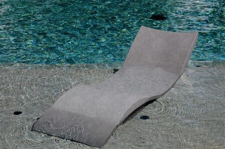 Ledge Lounger In Pool Chaise Granite Gray Llc Gg